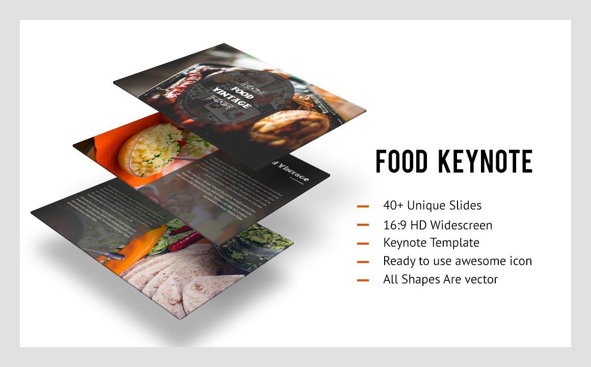Food Vintage Keynote Template Presentation Templates Creative - Keynote brochure template