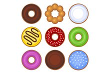 Donuts Collection Icons Set