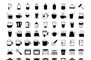 Kitchenware Solid Icons