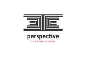 Perspective Diamond Maze Logo
