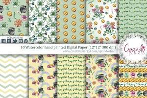 St patrick wallpaper digital paper