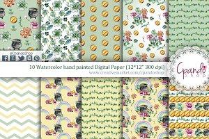 St patrick wallpaper digital paper