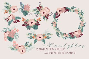 Eucalyptus - vector floral pack