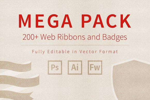 Mega Pack of Web Ribbons and Badges