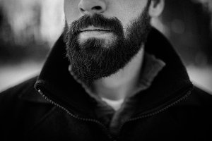 Beard in Black and White