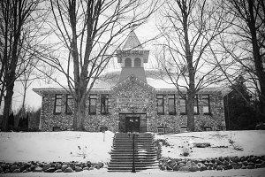 Union School in Black and White