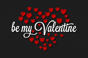 Valentines Day On Hearts Background.