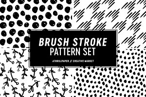 Brush Strokes Seamless Pattern Set
