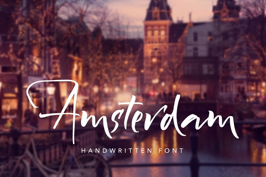 Amsterdam Handwritten Font in Script Fonts - product preview 8