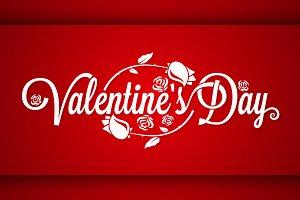 Valentines Day Vintage Banner