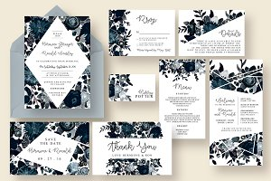Stylish & Dark Floral Wedding Suite