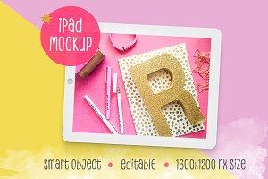 Multicolored iPad™ Mockup