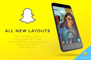 NEW Snapchat UI Kit - inc. Stories