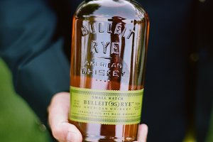 Bulleit Bourbon in Hand