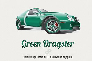 Green Dragster