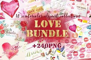 Love watercolor bundleValentine