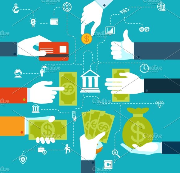 Infographic Financial Flowchart Illustrations Creative Market