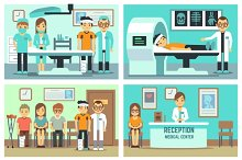 Patients in hospital, medical staff