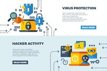 Online communication security banner