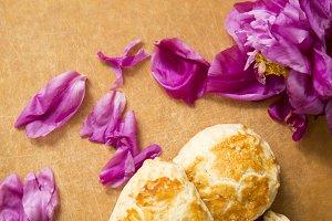 Food & Flower Flat Lay