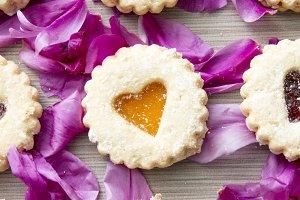 Cookie & Flower Flat Lay