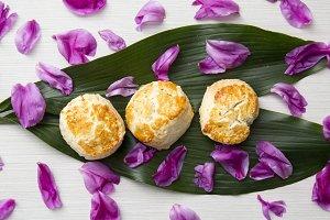 Floral & Food Flat Lay