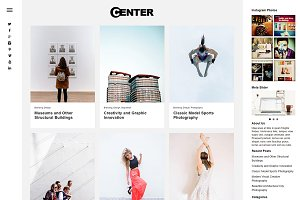Center Portfolio & Blog Theme