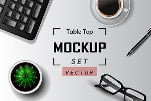 Table top Vector Mock up set