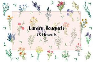 Garden Bouquets Clip Art