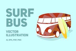 Surf bus | Vector illustration