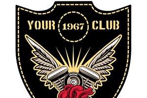Motor club emblem