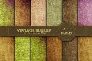 Vintage burlap digital paper