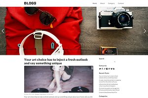 Blogg Responsive WordPress Theme