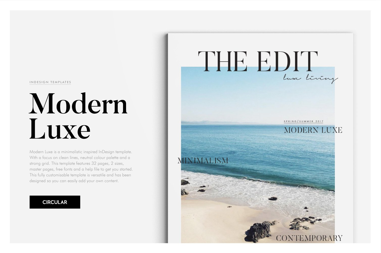 Modern Book Cover Inspiration : Modern luxe magazine brochure templates