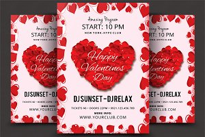 Valentines Day Psd Flyer Template