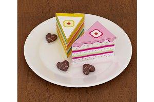 DIY Cake party favor - 3d papercraft