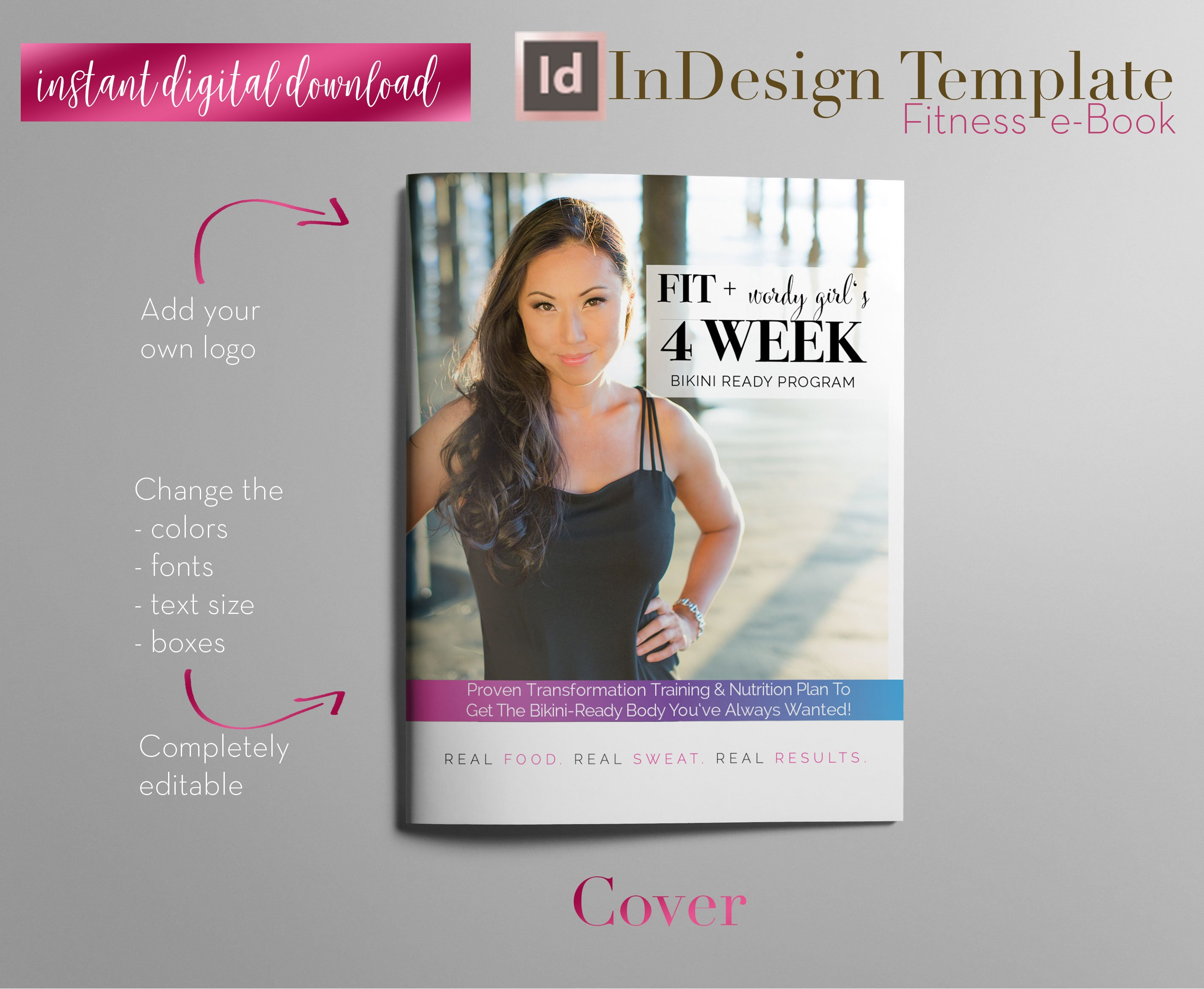 Fitness E Book Indesign Template Magazine Templates Creative