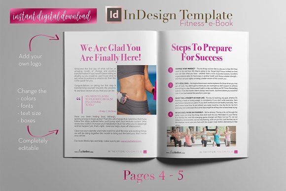 Fitness e-Book | InDesign Template ~ Magazine Templates ~ Creative ...