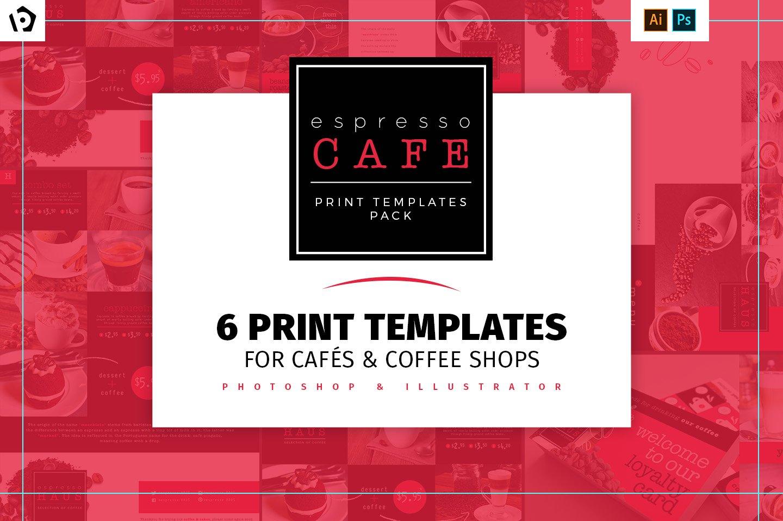 dl cafe menu template card templates creative market