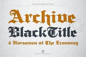 Archive Black Title