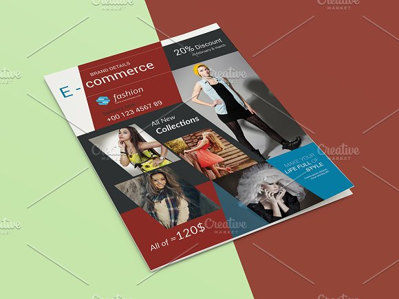 E Commerce Fashion Flyer-V468