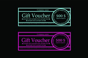Gift Voucher neon pink color