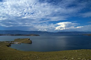 Clouds over Lake Baikal.