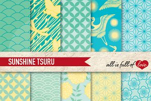 Jade Japanese Background pattern kit