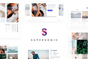Supersonic — Creative Resume/CV PSD