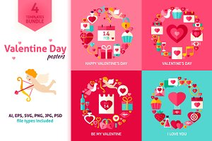 Valentines Day Vector Posters