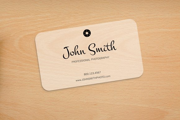 Photography Rounded Corners Card Business Card Templates - Rounded corner business card template