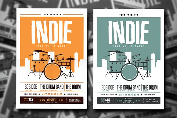 Indie Drum Flyer
