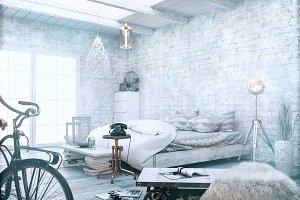 White vintage style.