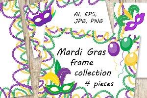 Mardi Gras frame set